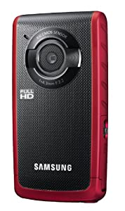 Samsung HMX-W190 Waterproof Pocket HD Digital Video Camcorder Red/Black - Manufacturer Refurbished