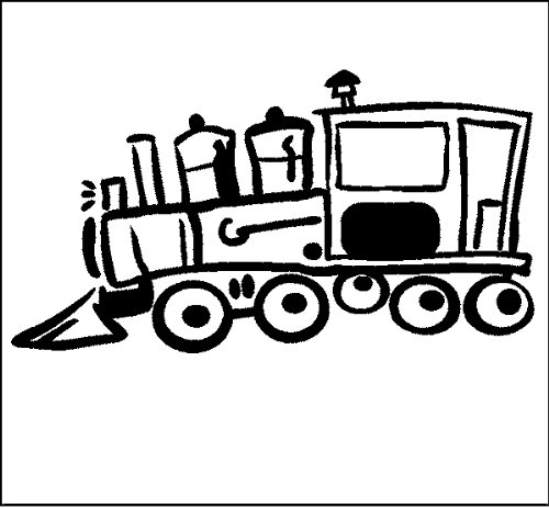 Train Engine Wall Decal Sticker Removable Wall Graphic 12