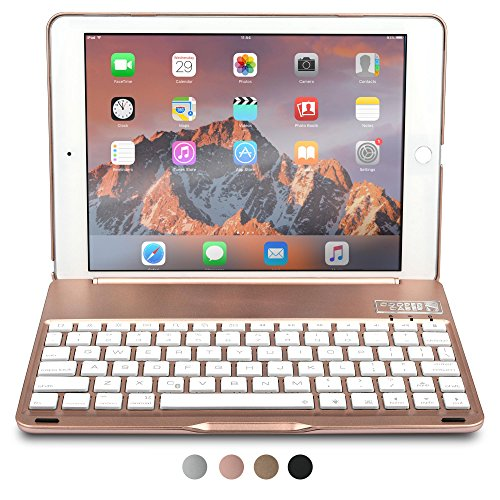 iPad Pro 9.7 / iPad Air 2 keyboard case,NEW COOPER KAI SKEL Bluetooth Wireless Keyboard Portable Laptop Macbook Clamshell Case Cover with 14 Shortcut Keys for Apple iPad Air 2 / Pro 9.7 (Rose Gold) (Wi Fi Key Board compare prices)