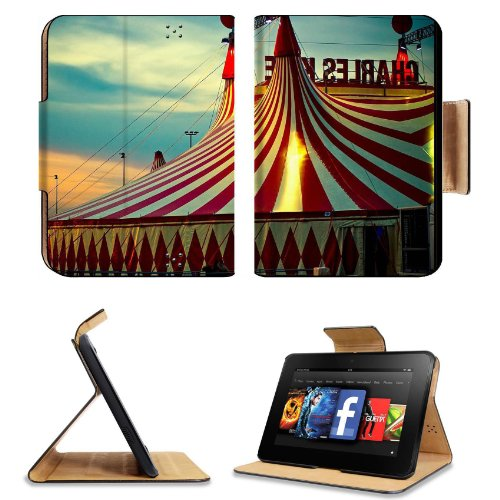 Circus Tent Sunset Sky Fun Times Amazon Kindle Fire Hd 7 [Previous Generation 2012] Flip Case Stand Magnetic Cover Open Ports Customized Made To Order Support Ready Premium Deluxe Pu Leather 7 11/16 Inch (195Mm) X 5 11/16 Inch (145Mm) X 11/16 Inch (17Mm) front-219697