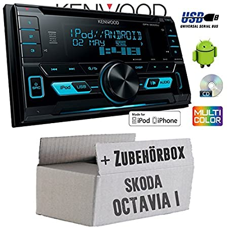 Skoda Octavia 1 1U - Kenwood DPX-3000u - 2DIN USB Kit de montage autoradio CD MP3 -