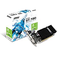 MSI GeForce GT 720 DirectX 12 N720-1GD3HLP 1GB 64-Bit DDR3 PCI Express Video Card