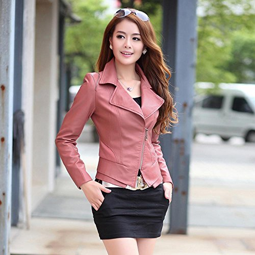 Friendshop Womens Winter Slim Bomber Genuine Leather Jacket(5 Colors)