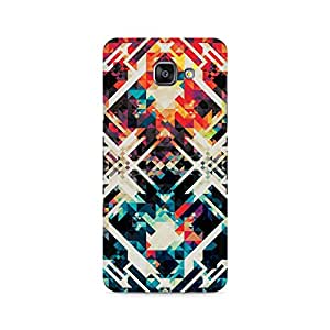 Ebby Two Square Abstract Premium Printed Case For Samsung A710 2016 Version