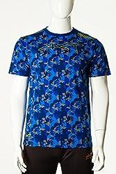 Kappa Men's AKT Veik T-Shirt, Large, Blue Royal