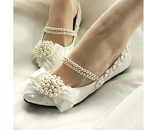Getmorebeauty-Womens-Mary-Jane-Flats-Pearls-Bows-Across-Tops-Dress-Wedding-Shoes