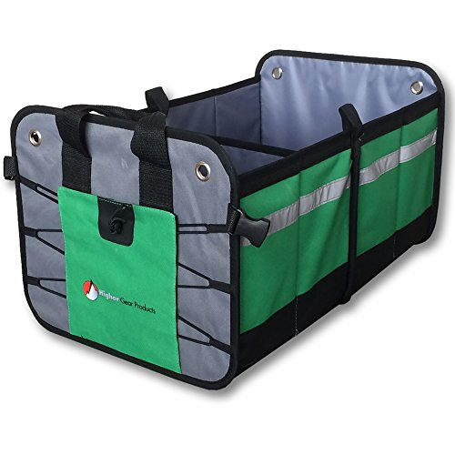 Premium Car Trunk Organizer  Best Heavy Duty Construction - Great For Car, SUV, Truck, Minivan, Home- Collapsible For Easy Storage- Higher Gear Products (First Aid Beverages compare prices)
