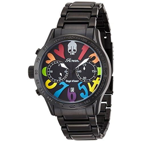 [エンジェルクローバー]Angel Clover 腕時計 ロエンコラボレーション ブラック文字盤 ステンレス(BKPVD)ベルト クロノグラフ デイト LC42ROBBRB メンズ