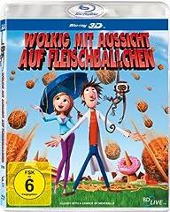 Wolkig mit Aussicht auf Fleischbällchen (3D Version) als 3D Blu-ray ab 9,99 Euro inkl. Versand