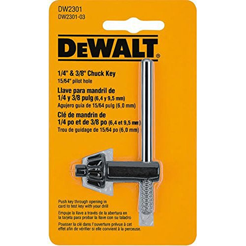 DEWALT DW2301 1/4-Inch and 3/8-Inch Chuck Key with 15/64-Inch Pilot (Drill Key Chuck compare prices)