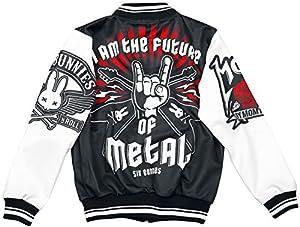 Six Bunnies Metal Fan Chaqueta Niño negro-blanco