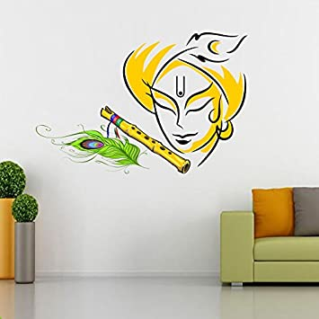 Buy SRG India Krishna Multicolor Wall Decal Online At Low Prices - Wall decals india