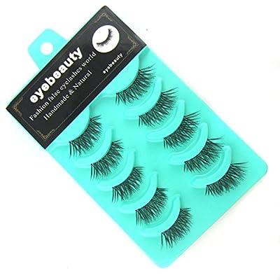 L8E 5 Pairs Mini Corner Half beauty False Eyelashes Daily fashion fake eye Lashes