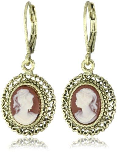 1928 Jewelry Vintage-Inspired Escapade Carnelian Drop Earrings