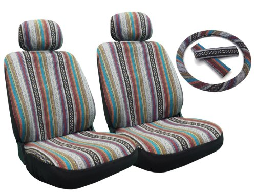 Baja Inca Seat Covers Pair Front Row Saddle Blanket For Hyundai Sonata front-75292