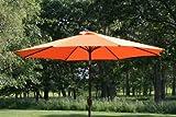 9' Outdoor Patio Umbrella with Tilt and Crank - Orange