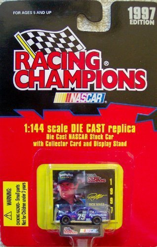 1997 Edition Racing Champions Rick Mast #75 1:144 Scale Die Cast Replica w/Collector Card and Display Stand (Assorted Colors)