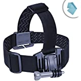 USA Gear Universal Head Strap Action Mount with J Hook and Tripod Adapter - Works With Garmin Virb