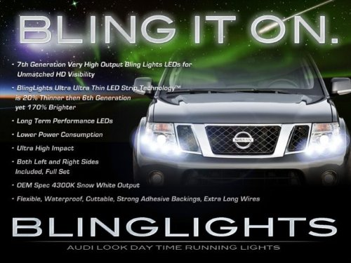 1998-2015 Nissan Frontier Led Drl Head Light Strips Day Time Running Lamps