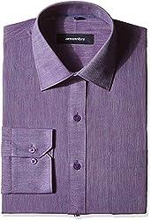 Greenfibre Men's Formal Shirt (39IT_40_Violet)