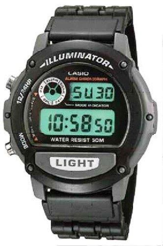 CASIO W-87H-1VH - Reloj unisex de cuarzo, correa de acero inoxidable color varios colores (con multifunción)
