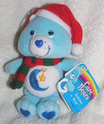"Care Bears 5"" Plush Bedtime Bear Christmas Ornament With Scarf And Santa Hat front-972448"