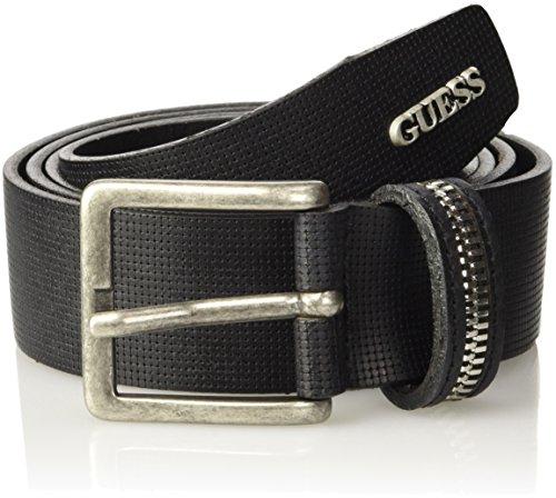 GUESS, EXPOSED ZIP BELT - M63Z32L0GR0 - Cintura da uomo, colore a996 noir/jet black a996, taglia M