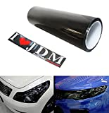 12 by 48 inches Self Adhesive 20% Dark Black Headlights, Tail Lights, Fog Lights Tint Vinyl Film
