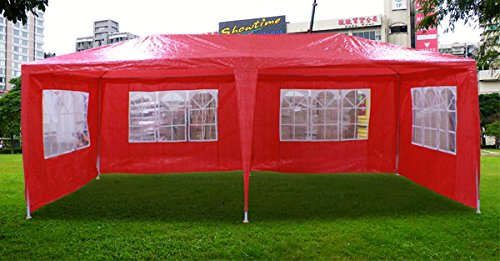 New 20'X10' Outdoor Party Wedding Tent Gazebo Events Pavilion - Red front-736048