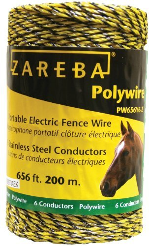 Zareba Pw656Y6-Z Polywire 200-Meter 6-Conductor Portable Electric-Fence Rope Packagequantity: 1 Outdoor/Garden/Yard Maintenance (Patio & Lawn Upkeep)