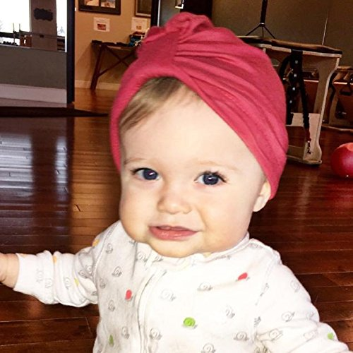 Girl Bohemia Hat, Misaky Cute Lovely Soft Cute Baby Cap (Red)