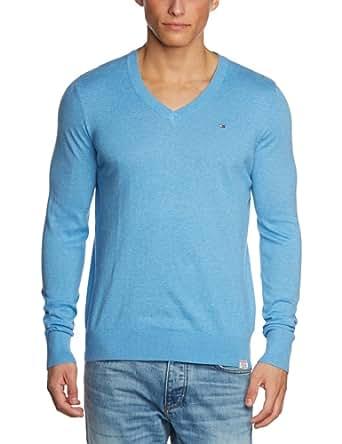 Hilfiger Denim - Pull - Col V - Manches Longues Homme - Bleu - Blau (431 Regatta - Pt) - FR : L (Taille Fabricant : Xl) (Brand size: XL)