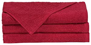 """Towels by Doctor Joe Think Thick Dark Red 16"""" x 27"""" Super Absorbent Car Wash and Detailing Towel, Pack of 12"""