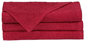 "Towels by Doctor Joe Think Thick Dark Red 16"" x 27"" Super Absorbent Car Wash and Detailing Towel, Pack of 12"
