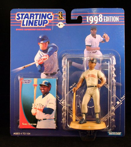TONY GWYNN / SAN DIEGO PADRES 1998 MLB Starting Lineup Action Figure & Exclusive Collector Trading Card