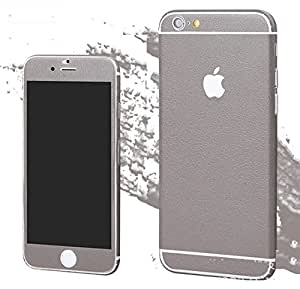 Kapa Full Body Leather Finish Vinyl Skin Sticker Cover for Apple iphone SE 5 5S - Grey