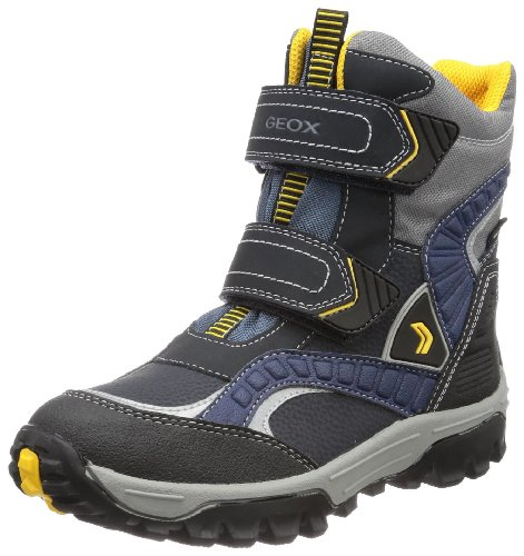 Geox J HIMALAYA WPF B Boys Snow Boots Blue Blau (NAVY/YELLOW C0657) Size: 26