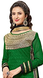 Mahaveer Fashion Women's Dress Material (5735_30_37010_Dark Green_Free Size)