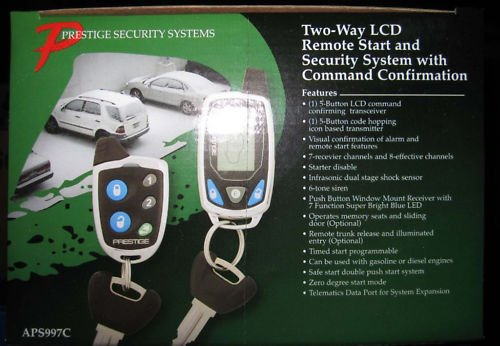 Audiovox Aps997c Car Prestige 2 Way Remote Start Keyless