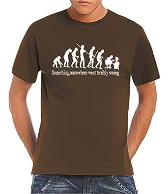 Touchlines T-shirt homme Something Somewhere... Marron marron Small