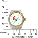 Disney Women's D122S776 Ariel Two-Tone Bracelet Watch
