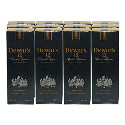Dewars 12 year old 5cl Miniature Blended Whisky - 12 Pack from Dewars