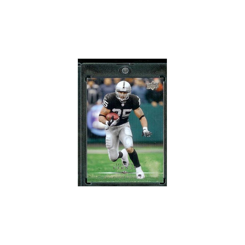 2008 Upper Deck #139???? Justin Fargas   Oakland Raiders   NFL Trading