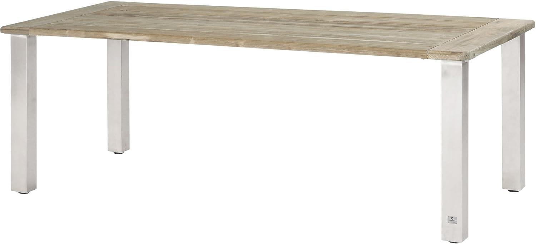 Tisch Casa Edelstahl/Teak 240x100cm kaufen