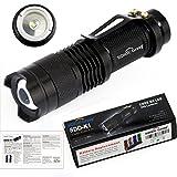 UltraFire 7w 300lm Mini Cree Led Flashlight Torch Adjustable Focus Zoom Light Lamp