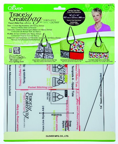 New Clover Nancy's Hobo Tote Collection 9576 Trace 'n Create Bag Template