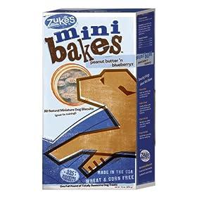Zuke's 16-Ounce Mini Bakes Dog Treats, Peanut Butter n' Blueberryz