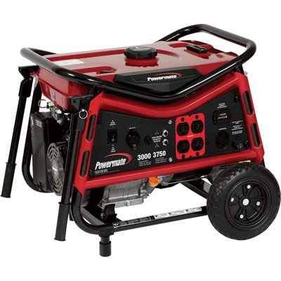 PowerMate Powermate Portable Generator -3750 Surge Watts, 3000 Rated Watts, CARB Compliant, Model# PMC103007