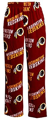 Washington Redskins NFL Men's Scattern Pattern Microfleece Pajama Pants