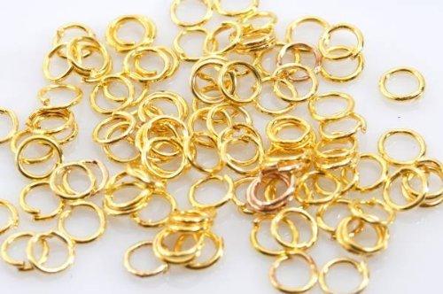 丸カン 8mm ゴールド 金 100個 リング